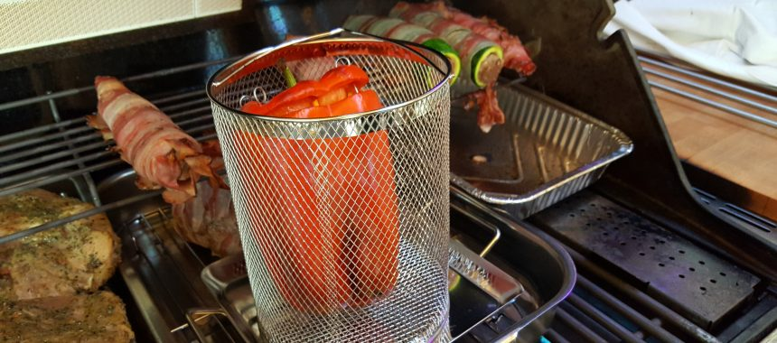 Gefüllter roter Paprika