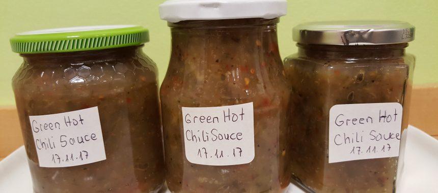 Green Hot Chili Sauce