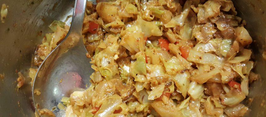Hühnerbrust mit Curry-Kraut-Käsefüllung